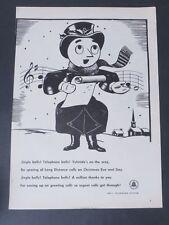 Original Print Ad 1946 BELL TELEPHONE SYSTEMS Vintage Art Man