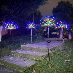 LED Firework Solar Light For Yard Patio Lawn Christmas Multicolor Modern Decor