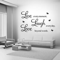 Live Laugh Love Family Home Quote Wall Stickers Art Room Removable Decals DIY