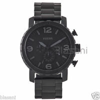 Fossil Original JR1401 Men's Nate Black Stainless Steel Watch 50mm