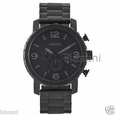 Fossil Original JR1401 Men's Nate Black Stainless Steel Watch 50mm
