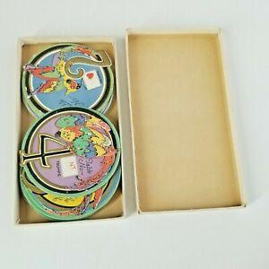 Vintage Table Numbers and Trump Indicators Parrots Art Deco Paper Decoration Set