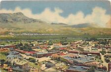 Hot Springs New Mexico~Bird's Eye View~Homes~Business~1940s Linen Postcard