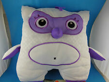 """Inkoos White & Purple Owl Plush 10"""" Draw on with Washable Markers Not Included"""