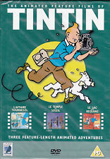 Tintin - DVD - 3 x Feature Length Animated Adventures (Brand New Sealed)