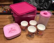 TUPPERWARE  KIDS DISNEY PRINCESS  MINI PICNIC SET JUG PLATES CUPS PINK