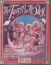 The Tango In The Sky 1914 Large Format Sheet Music