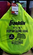 Franklin 6' x 4' Dome Shaped Pop Up Fold Flat Soccer Goals Pair