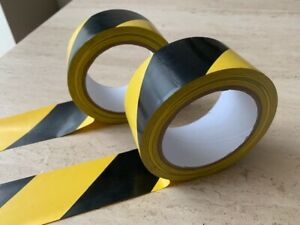 x10 Hazard Warning Tape Roll Self Adhesive Social Distance Shops / Offices/ etc