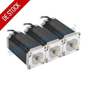 3pcs Nema 23 Stepper Motor (Schrittmotor) High Torque 3Nm 4.2A 113mm 10mm Shaft