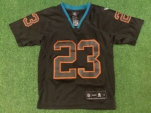 Reebok #23 Ronnie Brown Miami Dolphins Black Jersey Youth S Football NFL Apparel