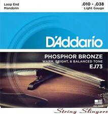 More details for d'addario ej73 mandolin phosphor bronze strings medium 10-38