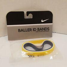 New Nike Vtg 2005 Baller ID Bands Bracelets Yellow Navy Blue White 3 Pack Player