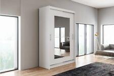 Brand New Wardrobe Sliding Door ASTA12 Modern Bedroom Storage White Closet 150cm