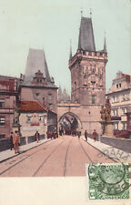 OLD POST CARD TCHECOSLAVAQUIE CZECH REP TCHEQUE PRAHA PRAGUE stamp 1908