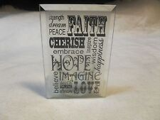 """New ~Glass Candle Lantern/Holder ~ w/ Inspirational Message """"Strength, Faith."""