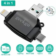 Geekgo SD Card Reader for Apple Android MacBook Computer Memory Card Adapter (E3