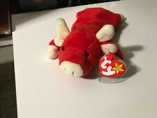 Ty Beanie Babies Collection- Snort the Bull 1995 Rare Tag Errors PVC