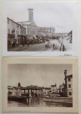 Lotto di 4 fotografie foto epoca antiche vecchie DOLO fotografia Venezia