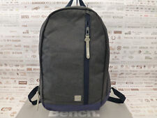 BENCH Backpack Dark Grey Strong Canvas Rucksack Spacious Shoulder Bag BNWT RP£32