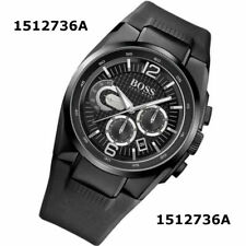 Hugo Boss Black Men's Chronograph Rubber 1512736 Watch