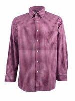 Club Room Men's Estate Wrinkle Resistant Check Dress Shirt (18 34/35, Red)