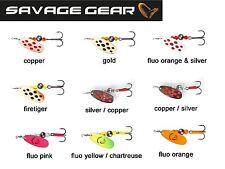 Savage Gear  Rotex Spinner #3 8g 04-Fluo Orange Silver für Barsch Hecht Forelle