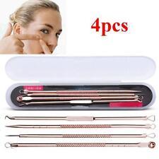 4Pcs Pimple Blemish Blackhead Comedone Acne Extractor Remover Tools Needles shan