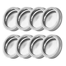 8Pcs 70mm Screw Bands/Rings w/Discs Lids Caps Kit for Regular Mason Jars canning