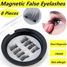 8 Pcs/4 paia 3D Double Magnetiche False Ciglia Cure Estetiche Trucco Estensione