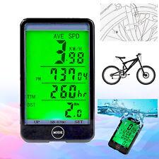 Sans Fil Vélo Ordinateur Imperméable Compteur De Vitesse Rétroéclairage Avec LCD