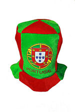 PORTUGAL GREEN RED COUNTRY FLAG CLOWN STYLE HAT  .. NEW