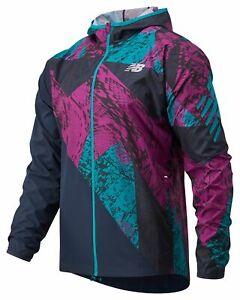 New Balance Men's Printed Fast Flight Jacket Pink