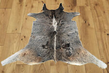 """New Calfhide Rugs Area Cow Skin Leather Cowhide ULG 45751 (34""""X37"""")"""