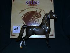 Gorgeous Peter Stone Glossy dapple Rose Grey Morgan model Horse, NIB new in box