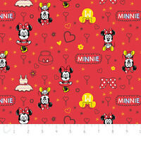 Disney Mickey Mouse & Friends Minnie Ruby Camelot 100% cotton fabric by the yard