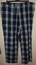 NWT MENS OLD NAVY BLUE PLAID POPLIN PAJAMA BOTTOMS / LOUNGE PANTS  SIZE XXL