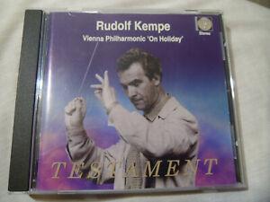 "RUDOLF KEMPE, VIENNA PHILHARMONIC ""ON HOLIDAY"" TESTAMENT SB 1127, 1997 CD"