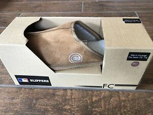 Chicago Cubs MLB  Slipper Tan Size X Large 13-14
