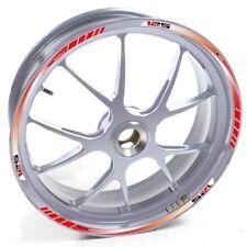 UKEN Sticker wheel Rim Cagiva silver Rim Mito 125 Mito125 Red strip tape vinyl a