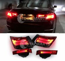 For HONDA ACCORD 2008-2012 Black Lens Rear Lamp Smoked Red LED Tail Lights H019
