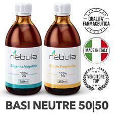 KIT Base Neutra NEBULA VAPING LAB  500 ml 50VG/50PG per sigaretta elettronica