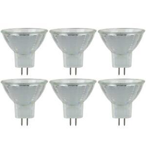 Sunlite JCR - 5 Watt MR11 Halogen Light Bulb, 6 Volt, 30 Degree Beam 6-Pack