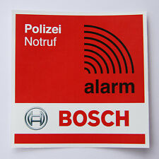 2x BOSCH ALARM Aufkleber | Notruf Alarmanlage Einbruchschutz Schaufenster Schutz