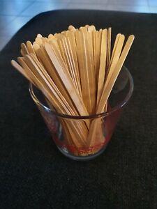 Rührstäbchen Holz Stäbchen Kaffee Tee Coffe to Go 100 Stück