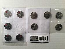 War of 1812 - 2013 de Salaberry Quarters, 25 Cent Coins, Set of 10, Uncirculated