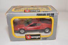 V 1:24 BBURAGO BURAGO 133 FERRARI 512BB 512 BB RED NEAR MINT BOXED