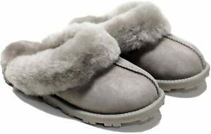 Kirkland Women Shearling Slippers Grey Gray Size 10 - New in Box