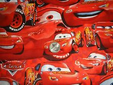 COTTON FABRIC DISNEY CARS LIGHTNING McQUEEN BY THE YARD