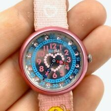 FLIK FLAK Watch by Swatch for Kids to learn how to tell the time (Princess)